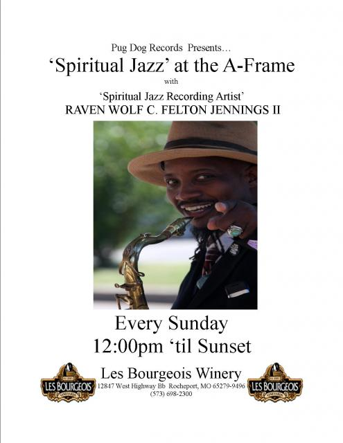 """Spiritual Jazz"" at the A-Frame   Every Sunday Noon 'til Sunset"